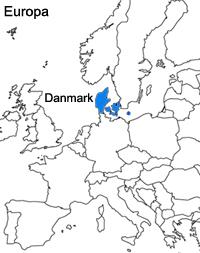 Danmark ligger i Nordeuropa